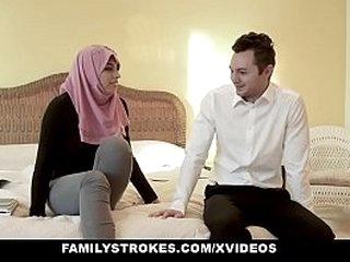 FamilyStrokes - Busty Arabian MILF Rides Cock