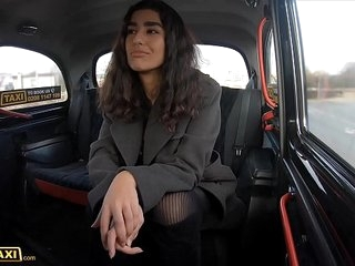 Fake Taxi Asian babe gets her tights ripped and pussy fucked by Italian cabbie