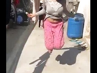 Desi girl superb bouncing boobs in slowmotion while skipping