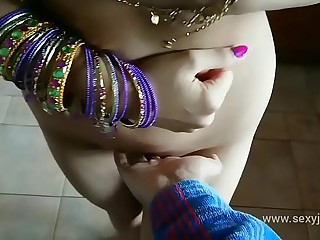 Blue saree daughter blackmailed f. to strip, groped, m. and fucked by old grand father desi chudai bollywood hindi sex video POV Indian